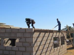 The locals of KaPunga Swaziland are building the Care Center